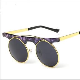 unique sunglasses ix8r  2016 Unique Brand Designer Round shaped Sunglasses Women men Luxury Retro  metal frame Sun Glasses8 colors L358