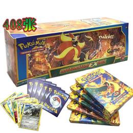Poke Trading Cards últimos juegos en inglés Edición Anime Pocket Monsters Tarjetas Juguetes de niños Juguetes de tarjetas 408pcs / lot HHA1038