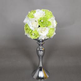 Vendas Hot !!! Candle Wedding Titular romântico do casamento pe Candlestick Flor casamento está prata Candelabra JM0056 Salebags