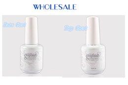 Wholesale Gelish Top and Base coat LED UV Gel nail polish foundation clear color Nail art lacquer Soak off nail gel prime