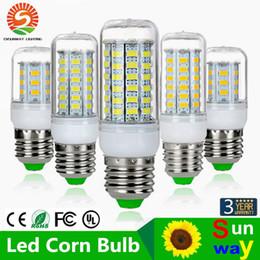 SMD5730 E27 GU10 B22 E12 E14 G9 Lâmpadas LED 7W 9W 12W 15W 18W 110V 220V 360 ângulo LED Lâmpada levou luz Corn