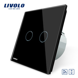 online shopping Livolo EU Standard Touch house home led remote curtains Switch Luxury White Crystal Glass Panel C702WR