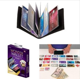 50PCS Maravilha Wallet Incrível Magro RFID Carteiras de couro preto 24Cards Casual Plain Carteiras Bom para viajar com Retail Box