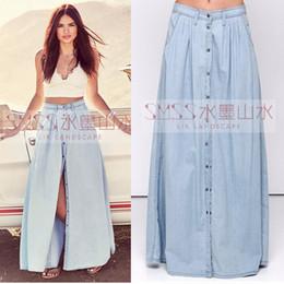Plus Size Denim Maxi Skirts Online | Plus Size Denim Maxi Skirts ...