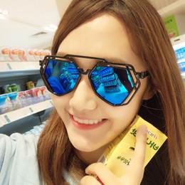 2017 woman uv sunglasses Hot Sales Ladies Fashion Sunglasses Summer Black Oversized PC UV Sun glasses Polygon frame Hollow Women outdoor Sunglasses cheap woman uv sunglasses