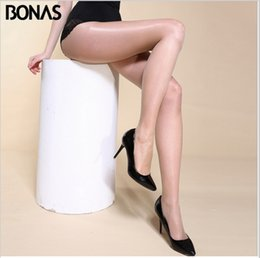 Wholesale BONAS D Women s sexy oil Shiny T crotch pantyhose yarns sexy satin Stockings hose Night club Fitness Leggings sexy lingerie opaque