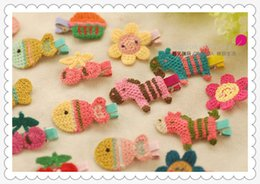 Wholesale Cute Cartoon Colorful Small House And Horse Weaving Children Bb Hair Clips Korean Handmade Weaving Children Hair Accessories 62
