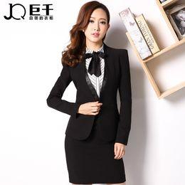 Wholesale Good Fashion Business Work Woman Wear Lady Black Suits Skirt