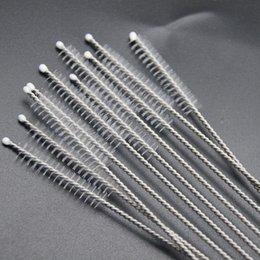 Atacado-Moda 10 pcs nylon palha alimentando garrafa limpadores de aço inoxidável escova de limpeza bebendo tubos de limpeza