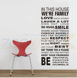 Family Rules We Are Family Home Decor Creative Quote Wall Decal Vinyl Wall Sticker Living Room Wallpaper Home Decor