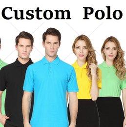 Wholesale T Shirts for Men Women Polo Customised DIY Clothes Tops S M L XL XXL XXXL Plus Size Colours Custom Made DK2003PL