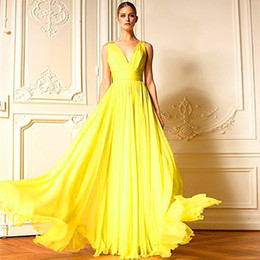 Discount Bright Long Yellow Prom Dresses | 2017 Bright Long Yellow ...