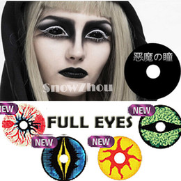 Wholesale FULL EYES HALLOWEEN contact lenses MM DIAMETER bottle package Crazy contact lenses COSPLAY contact lenses