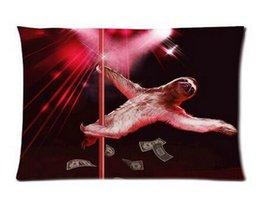 Wholesale Comfortable Bedding Set Cotton cmx75cm Sloth Bear Stripper Pole Dancing Decorative Throw Pillow Cover Pillowcase