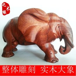 Wood Crafts Mahogany Edge Pear Wood Carvings Lucky Elephant Ears In The Wood Like Fortune House Decoration Home Furnishing