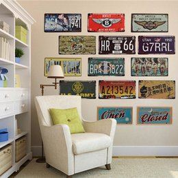 online shopping license car plates metal signs home decor vintage tin signs garage painting plaque wall