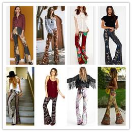 Wholesale Fashion Womens Floral Printed Casual Wide Leg Long Stretch Pants Bohemian Loose Harem Palazzo Plus Size Trousers