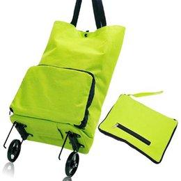 Wholesale 2016 New Creative Shopping Bag Portable Folding Bags Supermarket Trolley Car Wheel Bag Zipper Cabbage Mami Bag