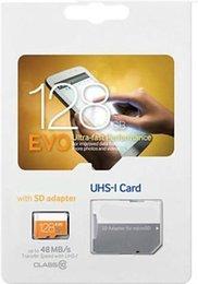 venta caliente 8GB 16GB 64GB 128 GB tarjeta Micro SD tarjeta de memoria TF Clase 10 UHS-1 adaptador de tarjeta SD SDXC para Samsung smartphone con el paquete de ampolla