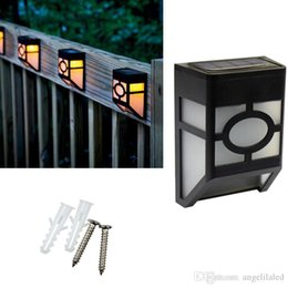 Led Solar Power Post Lights