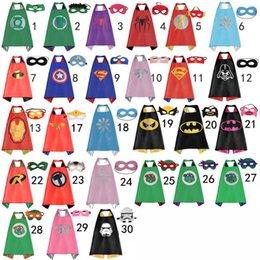 70 * 70cm de los niños del lado del doble del super héroe del Cabo - Batman niños Ironman Ninja Turtles Spiderman Capitán América Supergirl cabos con la máscara en stock