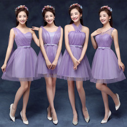 Wholesale 2016 New Colorful A line Empire Tulle cheap bridesmaid dresses Strapless Style Sweetheart Mini Evening Gowns Prom Dresses Party Dress