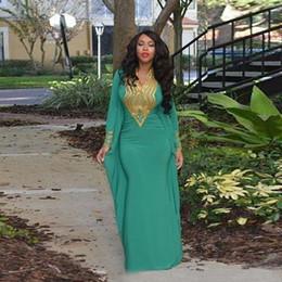 Wholesale Hot Sale Abaya In Dubai Evening Formal Dresses Floor Length Mermaid Lebanon Moroccan Kaftan Gold Sequins Muslim Evening Gowns