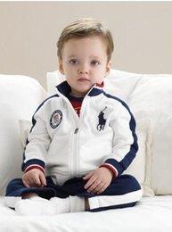 Wholesale Kids Clothing baby boys clothes Polo Long sleeve Sweatshirt pants suit Spring Autumn Piece Set