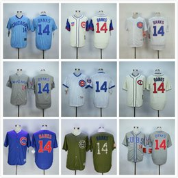 online shopping Men s Chicago Cubs Ernie Banks Baseball Jersey White Blue Gray Green Cream Ernie Banks Throwback Jersey
