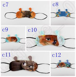 Wholesale 169PCS MMA27 Zootopia Goggles Safeguard Sleeping Eye Mask Baby Boys Girls Cute Blindfold Cotton cm Cartoon Eyepatch