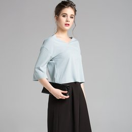 Wholesale New Spring Summer Style Women Blusas Casual Loose Chiffon Tops Half Sleeve Solid Shirts Ladies Blouses Plus Size S XXL