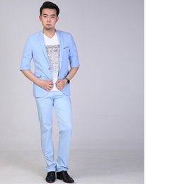 Discount Light Blue Skinny Suit | 2017 Light Blue Skinny Suit on