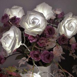 Fashion Lighting vacances 20pcs / lot de nouveauté Rose Fleur Fée Guirlande lumineuse de mariage Jardin Décoration de Noël Party