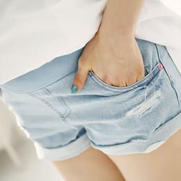 Las ventas calientes verano de la maternidad Pantalones cortos de cintura alta pantalones cortos de mezclilla para mujer embarazada vientre Prop Cortos Jeans de ropa Embarazo RK0086 smileseller