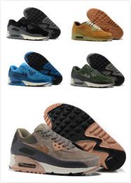 2016 Shoes Run Air Max Fashion Cheap Brand wholesale Famous Max 90 top luxury pig suede running Women Men sports air cushion Casual shoes Eur:36-46 Free shipping Shoes Run Air Max on sale