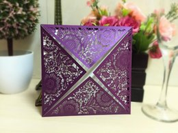 Wholesale 2016 pieces Printing Laser Cutting New Wedding Favors Hollow Wedding Party Printable Invitation Cards Ribbon