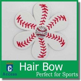 Wholesale 2016 Softball Baseball Flower Accessory and hair clip softball hair bows