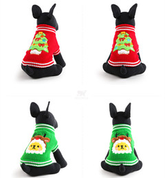 online shopping Hot Christmas tree Design Lovely Puppy Pet Cat Dog Sweater Knitted Coat Apparel Clothes Sizes CHristmas JF