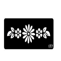 Wholesale New Style Flower Henna Tattoo Templates Stencils For Hands Glitter Tattoo Stencil Pochoir Tatouage T001 EE