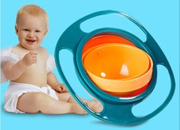 Wholesale wholsale Baby Kid Boy Girl Gyro Feeding Toy Bowl Dishes Non Spill Universal Rotate Technology Funny Gif Promotion