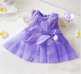 Wholesale Wholesales spring summer new Baby Kids Clothing Children s grils bow rose cotton sleeveless vest sequins tutu lace party dresses