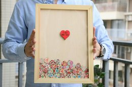 Wholesale Wedding Guest Book Custom Wedding Alternative Unique Guestbook Heart Drop Box Personalized GuestBook Wedding Gift cm Small Hearts
