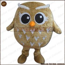 Wholesale Costume de mascotte de hibou la livraison libre adulte bon marché de bande dessinée de mascotte de hibou de peluche de haute qualité acceptent l ordre d OEM