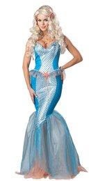 Wholesale Venta al por mayor de alta calidad Mar populares sirena sirena caliente del traje con los trajes de envío gratuito S1442 hadas atractivo de las mujeres de Halloween