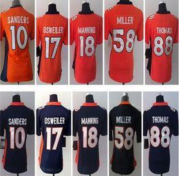 Broncos 10 Emmanuel Sanders Orange Stitched Hooded Sweatshirt