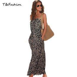 Wholesale Beach Dress Women Summer Boho Dress Beach Wear Women s Sleeveless Maxi Chiffon Dress Ladies Long Party Dress