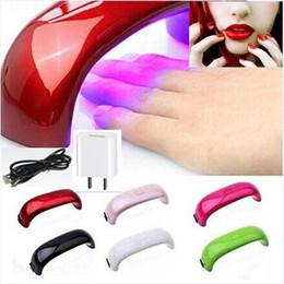 Wholesale Rainbow Nail Art Lamp W LED Light Bridge Shaped Curing Mini Nail Dryer Nail Art Lamp Care Machine for UV Gel USB with Plug set