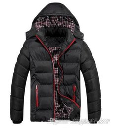 Wholesale Winter Coat Men quilted black puffer jacket warm fashion male overcoat parka outwear cotton padded hooded down coat