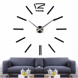 wholesale 2016new home decor big wall clock modern design living room quartz metal decorative designer clocks wall watch free shipping cheap designer wall