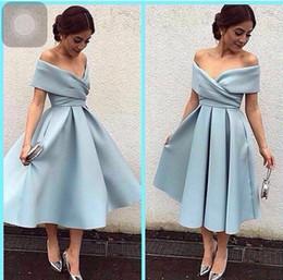 Fashion Off Shoulder Tea Length
